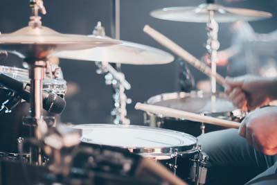 Drummer bei der Arbeit