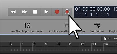 Button-Aufnahme-behalten